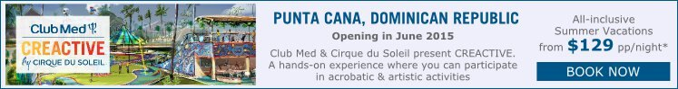 new creactive cirque du soleil club med punta cana