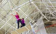 Flying trapeze with circus activities