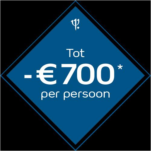 tot 700 euro korting